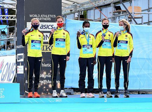 HLV-Athletin Melat Kejeta (Laufteam Kassel) wird Vizeweltmeisterin im Halbmarathon und führt deutsche Mannschaft zu WM-Bronze
